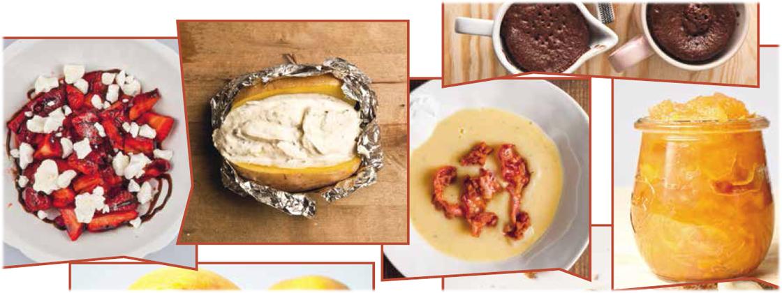 Tassen-Kuchen und Quark in der Kartoffel
